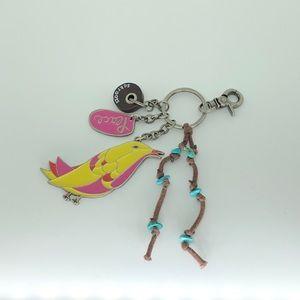 Sakroots Artist Circle Peace Bird Keychain, NWOT!